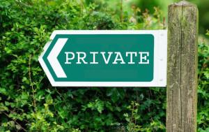public private B